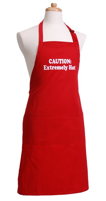 Mens Red Apron