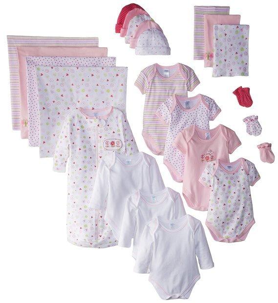 Baby Girl Pink Organic Newborn Sacks