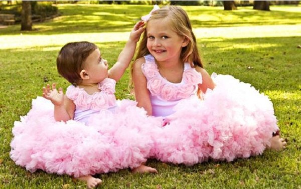 Fluffy Pettiskirt Tutu Party Birthday Skirt Dress and Rosette Top