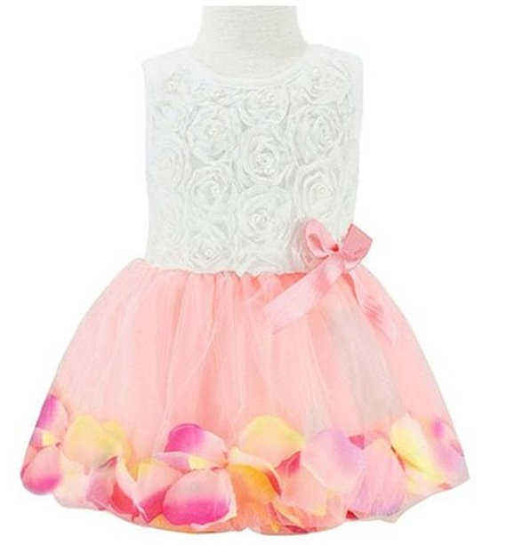 Girls Tutu Lace Party Dress