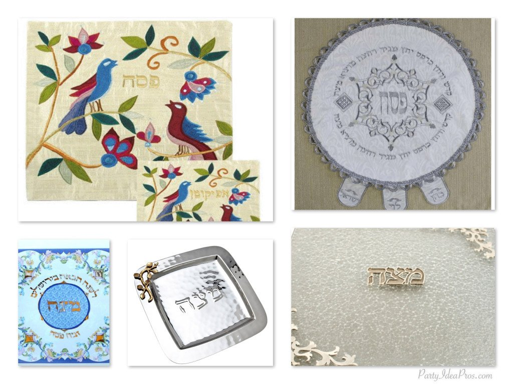 Passover Matzah Plates & Covers