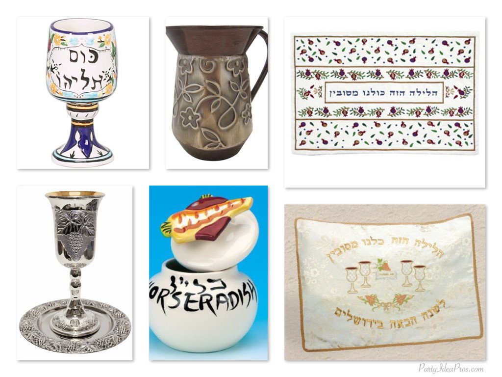 Passover Seder Pillows, Elijah Cups, Horseradish, Wash Cups