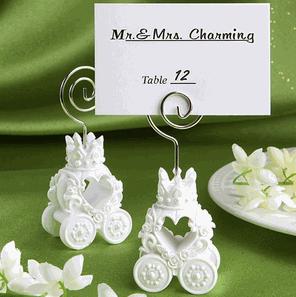 British Royal Wedding Party Ideas, Royal Coach Fairytale Place Card Holder Favors