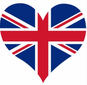 UK Heart Shaped Flag