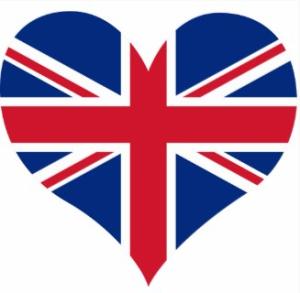 UK Heart Shaped Flag