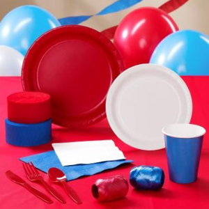 Red, White and Blue Party Kit
