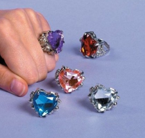 Jewel Heart Rings