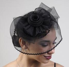 Black Fascinator Cocktail Hat