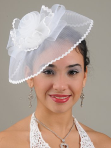 White Fascinator Cocktail Hat