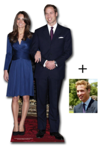 Prince William and Kate Middleton Standees