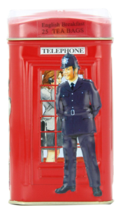 Ahmad London Telephone Box Tin, English Breakfast Tea