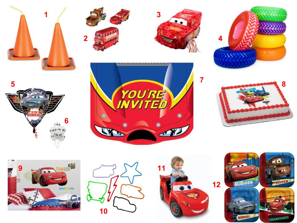 Disney Cars Theme Party Idea Supplies