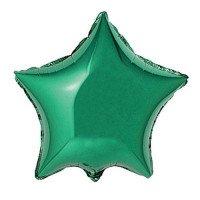 Green Star Mylar Balloon