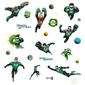 Green Lantern Wall Decals