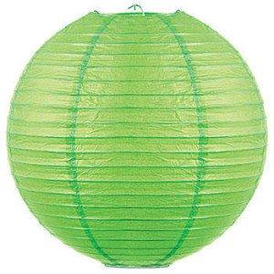 Green Accordion Lanterns