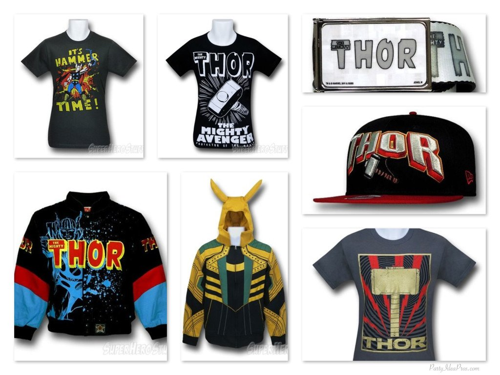 Thor t-shirts, belts, hats &, Jackets