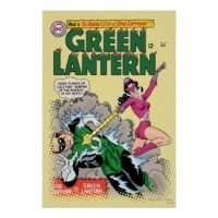 green lantern vintage poster