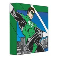 green lantern with city background binder