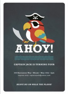 AHOY Children's Birthday Party Invitation