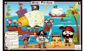 Ahoy Pirates Activity Placemat