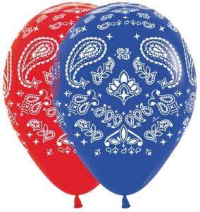 Bandana Western Print Balloons