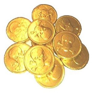 Gold Chocolate Pirate Coins