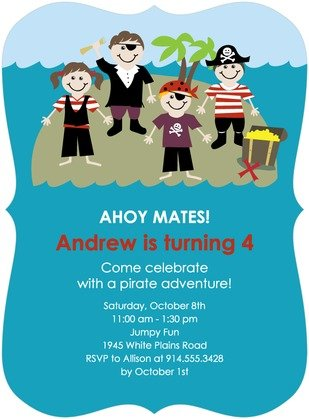 Little Pirates Birthday Party Invitation