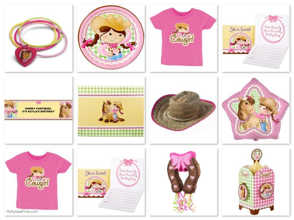 Pink Cowgirl Party Pack
