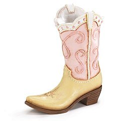 Pink Ladies Cowboy Cowgirl Boot Vase