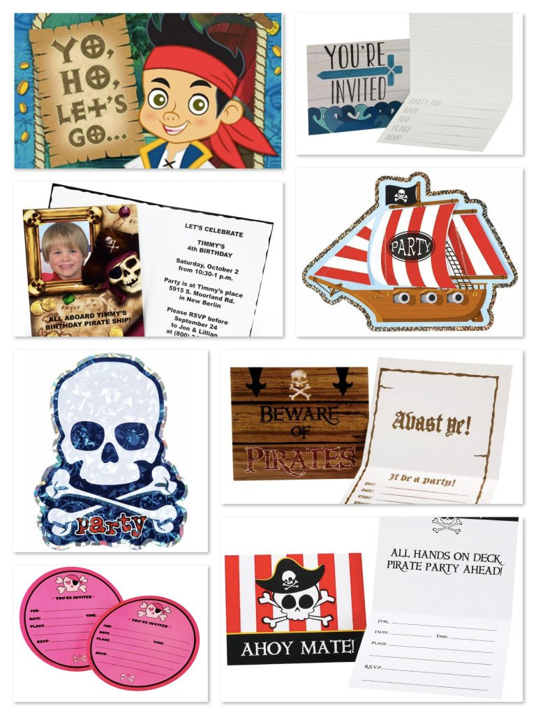 Pirate Birthday Party Fill-In Invitations