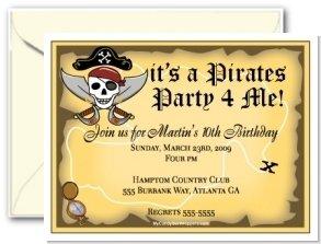 Pirates Life Personalized Invitation