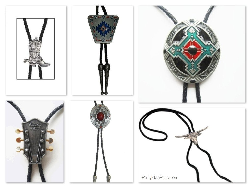Western Party Bolo Ties Party Favors