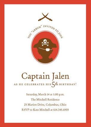 A Pirate's Life Children's Birthday Party Invite