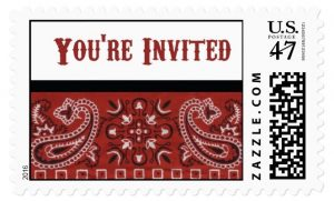 Bandana Invitation Postage Stamp