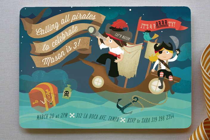 pARRRty! Children's Pirate Birthday Party Invitations