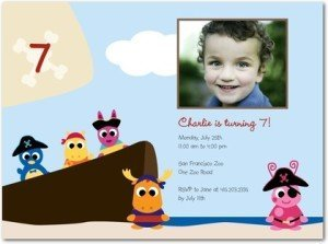 The Backyardigans: Pirate Adventure - Birthday Party Invitations