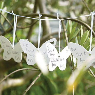 Butterfly Theme Party Wedding Wishes