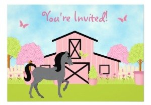Horse Theme Party Invitations And Stamps Birthday Parties