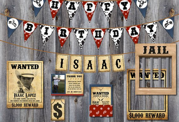 Western Cowboy Rodeo Party Theme Bundle