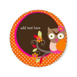 orange owl stickers