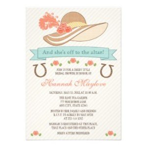 kentucky derby hat bridal shower invitationv