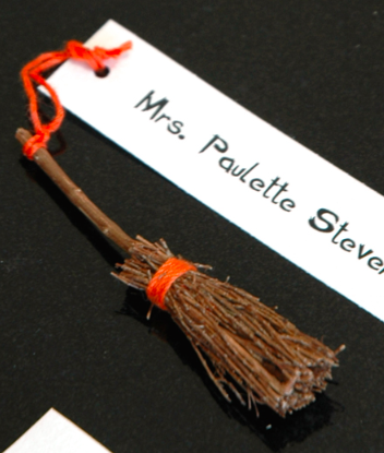 Broomstick Place Card Holders