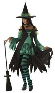 California Costumes Emerald Witch Teen Costume