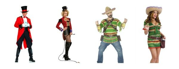 Circus and Tequila Couples Costumes