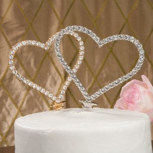 Crystal Heart Wedding Cake Topper