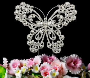 Exquisite Crystal Butterfly Cake Topper