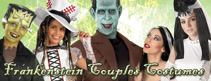 Frankenstein and Bride Couples Costumes