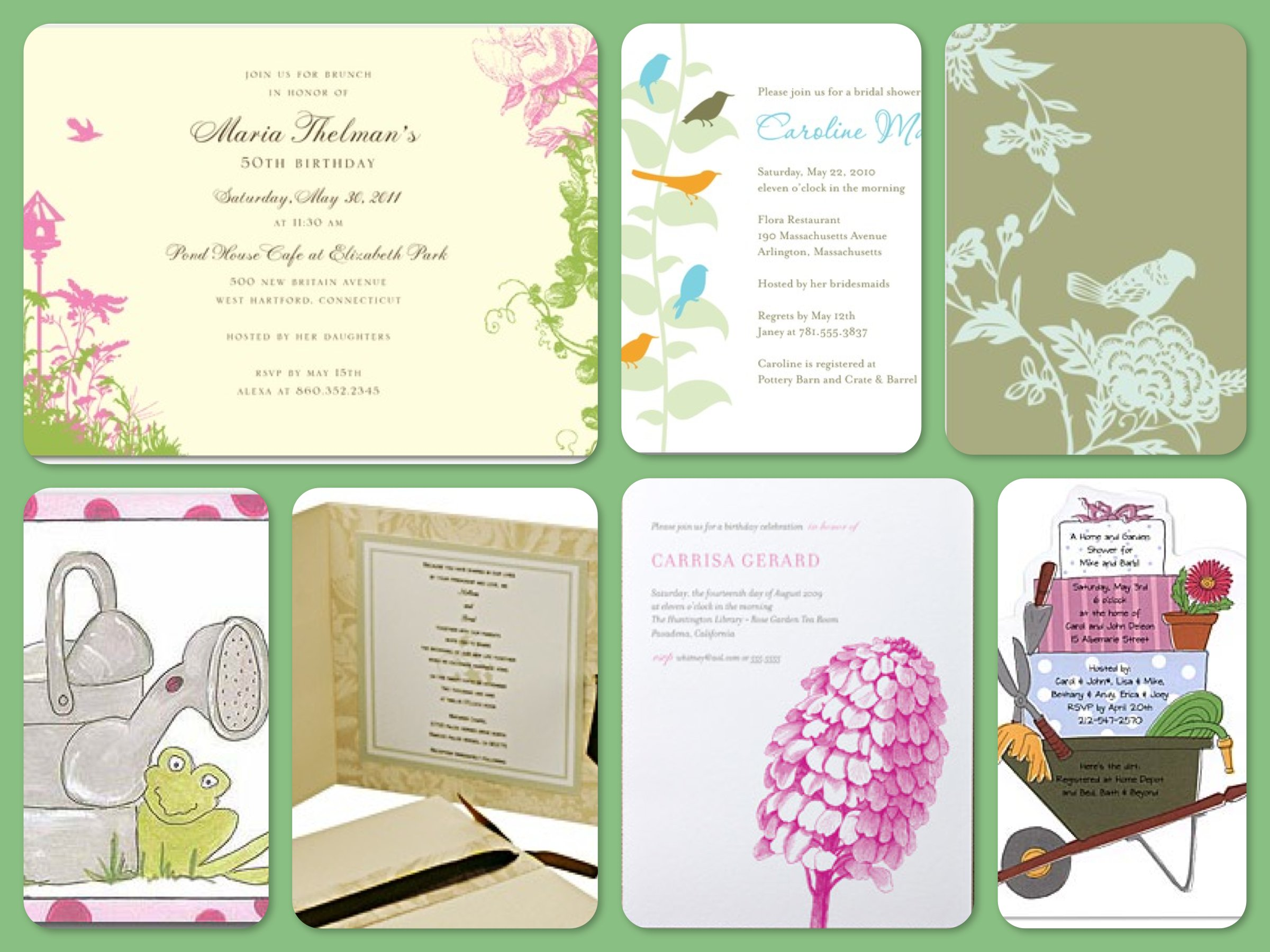 Around The Clock Shower Invitations is luxury invitation design