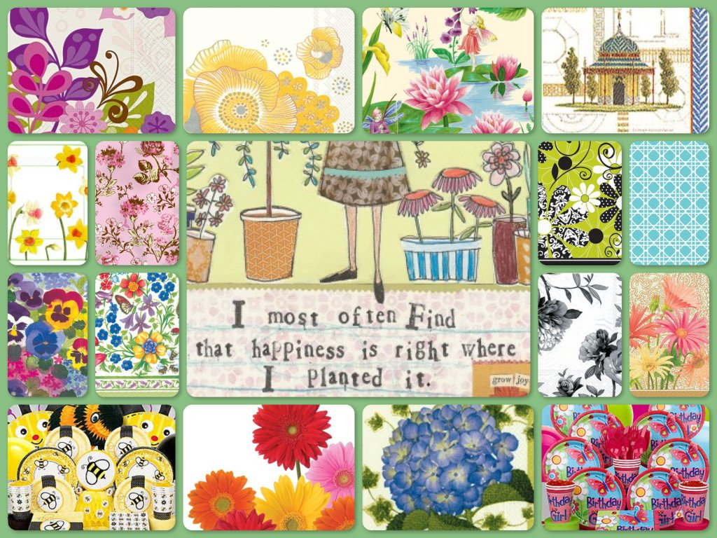 Garden Party Kits Plates Napkins