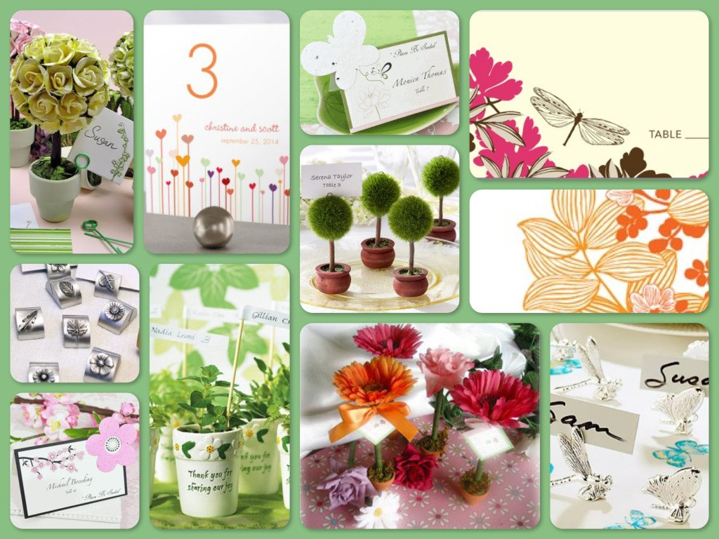 Garden Party Place Cards & Place Card Holders